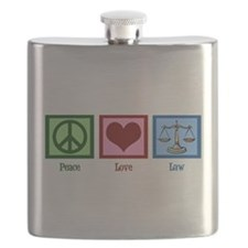 Peace Love Law Flask