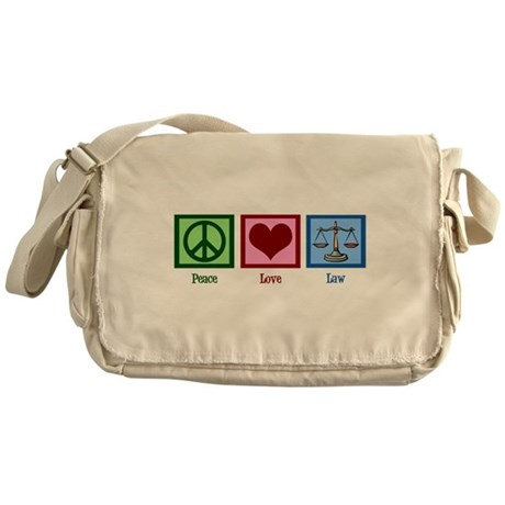 Peace Love Law Messenger Bag
