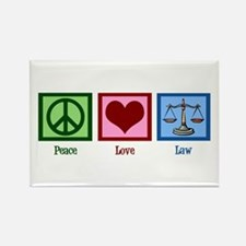 Peace Love Law Rectangle Magnet