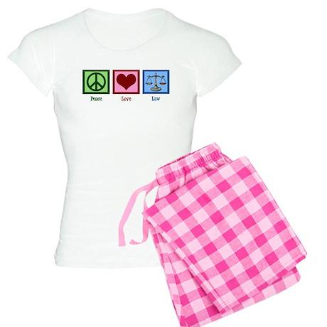 Peace Love Law Women's Light Pajamas