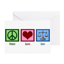 Peace Love Law Greeting Card