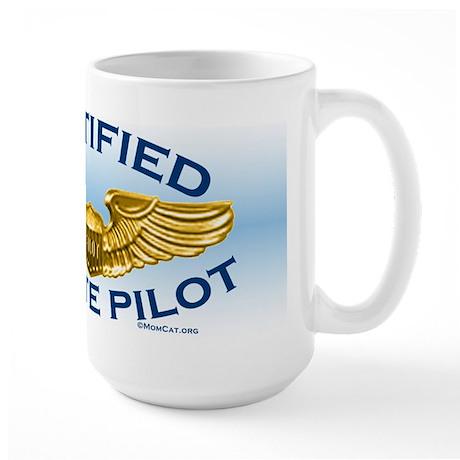 Pilot Wings (gold/blue) Large Mug