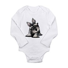 KiniArt Schnauzer Long Sleeve Infant Bodysuit