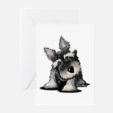 KiniArt Schnauzer Greeting Cards (Pk of 20)