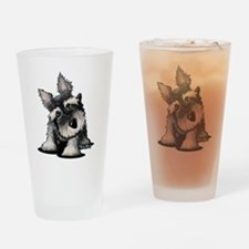 KiniArt Schnauzer Drinking Glass