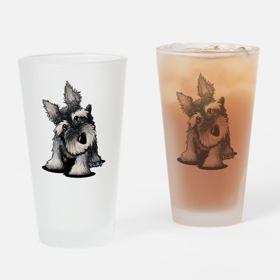 KiniArt Schnauzer Drinking Glass