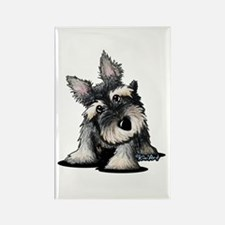 KiniArt Schnauzer Rectangle Magnet