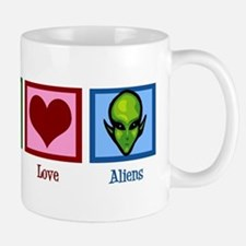 Peace Love Aliens Mug