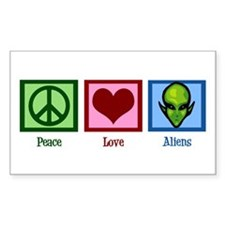 Peace Love Aliens Decal