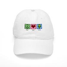 Peace Love Aliens Baseball Cap