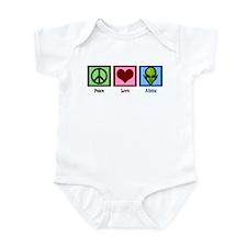 Peace Love Aliens Infant Bodysuit