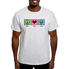 Peace Love Aliens T-Shirt