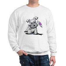 KiniArt Schnauzer Heart Sweatshirt