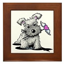 KiniArt Schnauzer Heart Framed Tile