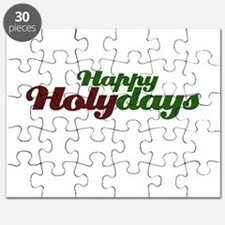 Happy Holidays Religious Christmas Puzzle