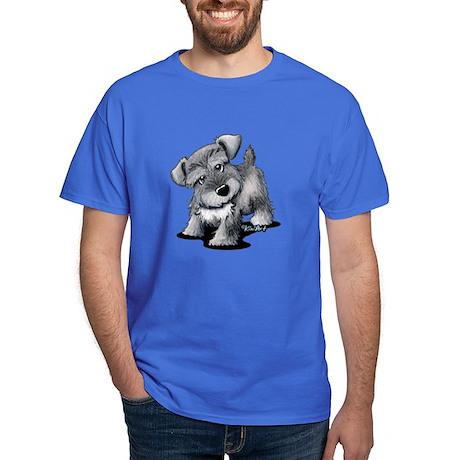 KiniArt Silver Schnauzer Dark T-Shirt