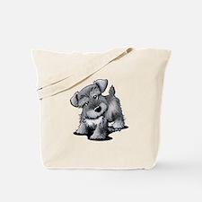KiniArt Silver Schnauzer Tote Bag