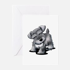 KiniArt Silver Schnauzer Greeting Cards (Pk of 20)