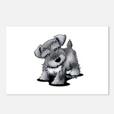 KiniArt Silver Schnauzer Postcards (Package of 8)
