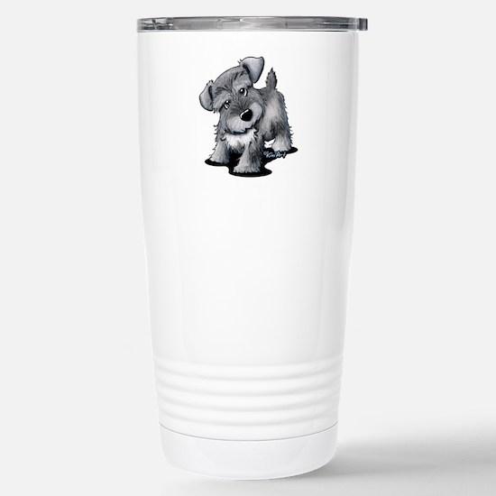 KiniArt Silver Schnauze Stainless Steel Travel Mug