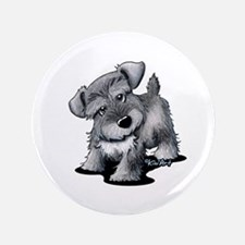 "KiniArt Silver Schnauzer 3.5"" Button"