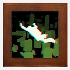 3D Freefall Skyline 1 Framed Tile
