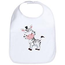 Cute Baby Zebra Bib