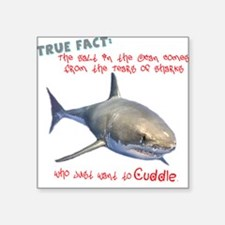 "Shark Tears Square Sticker 3"" x 3"""