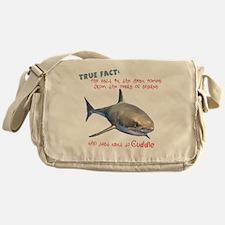 Shark Tears Messenger Bag
