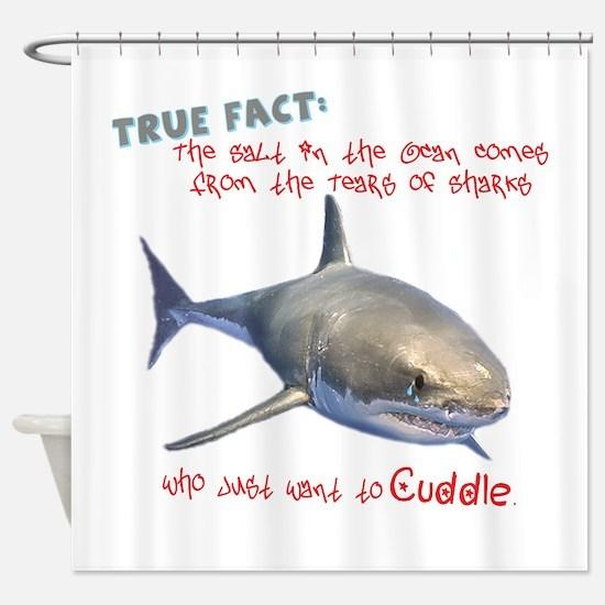 Shark Tears Shower Curtain