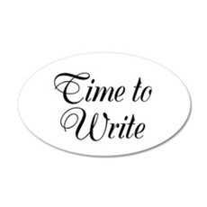 Time to Write 20x12 Oval Wall Decal