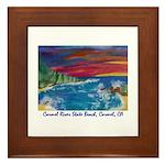 Carmel State Beach, Carmel CA 700.jpg Framed Tile