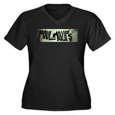 FoulMoufs Banner Women's Plus Size V-Neck Dark T-S