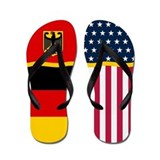 German and american flag Flip Flops