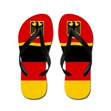 German Germany Deutschland Flag Flip Flops