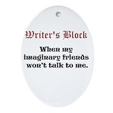 Writers Block Ornament (Oval)