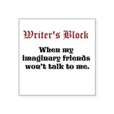 "Writers Block Square Sticker 3"" x 3"""