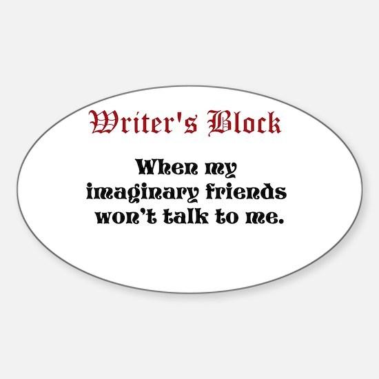 Writers Block Sticker (Oval)