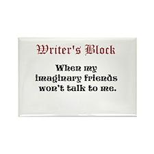 Writers Block Rectangle Magnet