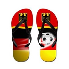 German Deutschland Football Soccer Flip Flops