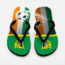 Irish Erie Ireland Football Soccer Flip Flops