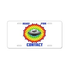Ready For Contact Aluminum License Plate