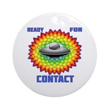 Ready For Contact Ornament (Round)