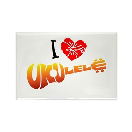 I Love Ukulele Rectangle Magnet