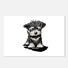 KiniArt Schnauzer Pup Postcards (Package of 8)