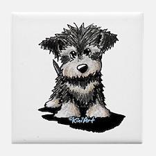 KiniArt Schnauzer Pup Tile Coaster