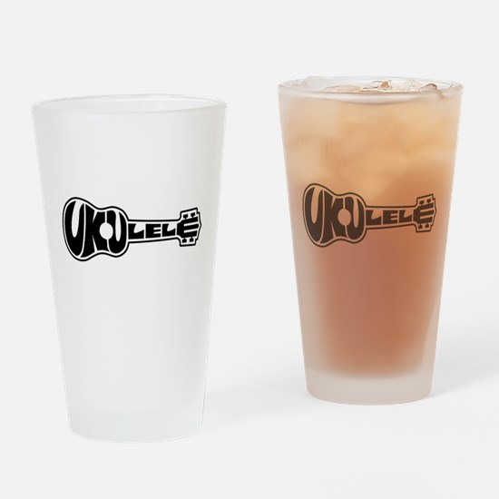 Ukulele Logo Drinking Glass