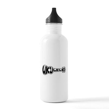 Ukulele Logo Stainless Water Bottle 1.0L