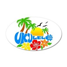 Ukulele Island Logo Wall Sticker