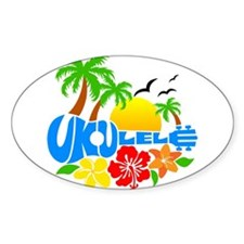 Ukulele Island Logo Bumper Stickers